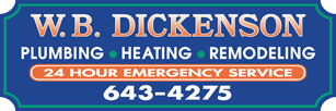 WB Dickenson Plumbing Contractors Heating Contractors, plus Bathroom and Kitchen Remodeling Experts servicing South Windsor, CT and other areas.